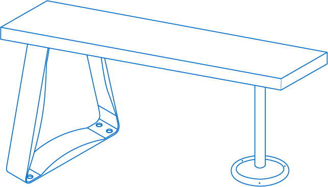 bench-with-pedestal