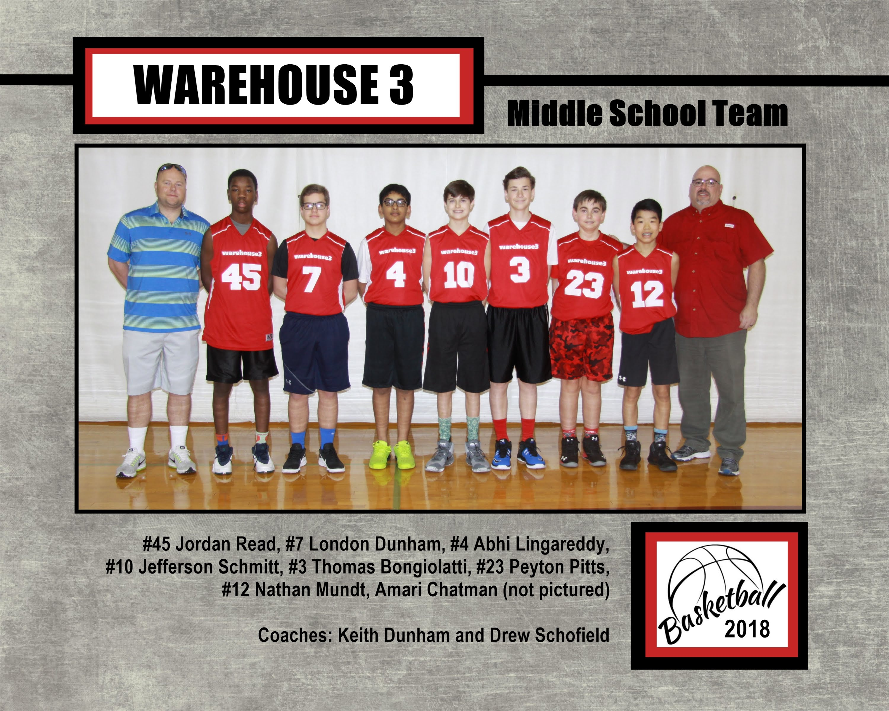 Warehouse 3 MS Team 2018