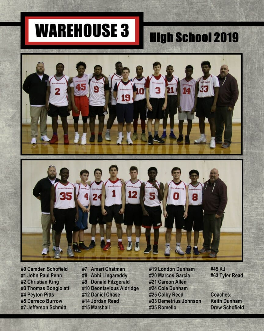 Warehouse 3 HS Team 2019
